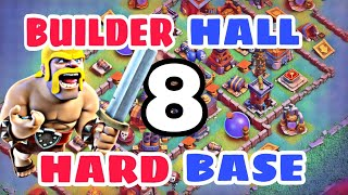 BEST Builder Hall 8 Base Design w/PROOF!! CoC Best Bh8 Base Design 2018 | Clash of Clans