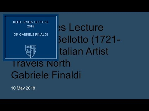 2018 Keith Sykes Lecture: Dr Gabriele Finaldi