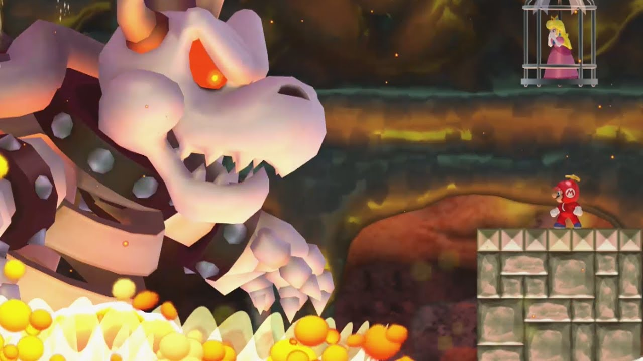 New Super Mario Bros Wii Final Castle Vs Dry Bowser Youtube