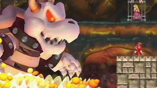 New Super Mario Bros. Wii - Final Castle vs Dry Bowser