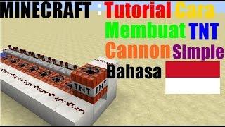 Minecraft : Tutorial Cara Membuat TNT Cannon Simple