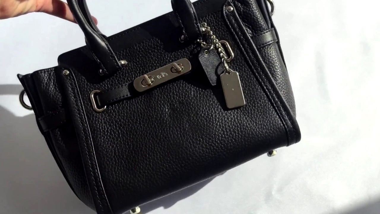 Сумка COACH Swagger 21 In Pebble Leather - YouTube a1751c77ec202