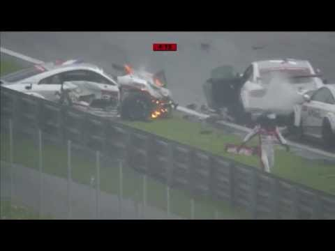 Massive crash,  Audi TT Cup 2015 at Red Bull Ring