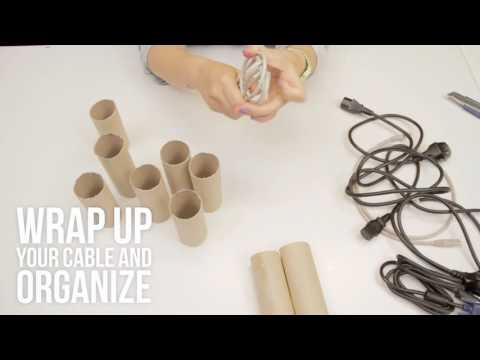 This is the best way to organize cables I DIY