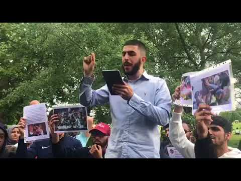 ALI DAWAH & MOHAMMED HIJAB READ OUT SPEECH AND ADDRESS ISSUES - speakers corner 13/5/18