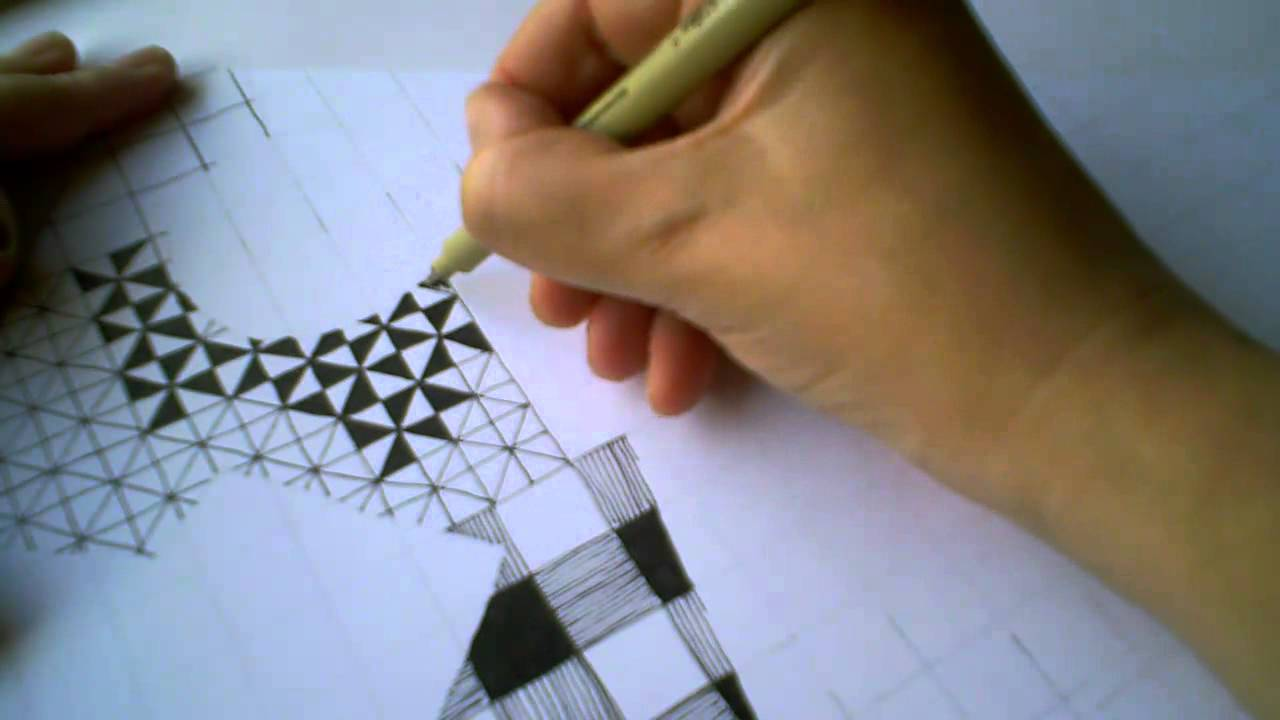 Zentangle Pattern Samplers 1 For Beginners Part