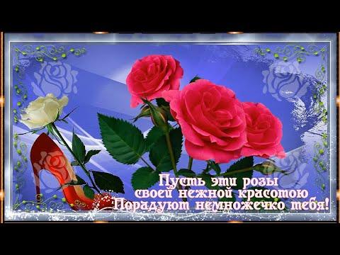 🌹Пусть эти розы  своей нежной красотою!🌹 Порадуют немножечко тебя!🌹