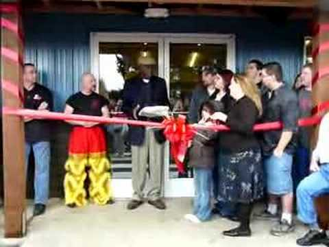 Olympic Cards & Comics' Grand Opening / Ribbon Cutting