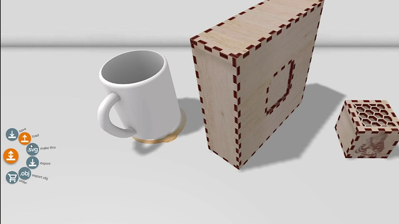 Kyub: A 3D Editor for Modeling Sturdy Laser-Cut Objects