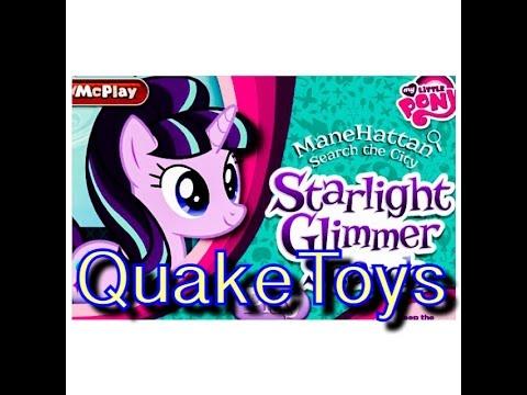 Mcdonalds My Li Pony Mcplay App Game Scanning Starlight Glimmer Rarity Rainbow Dash Play