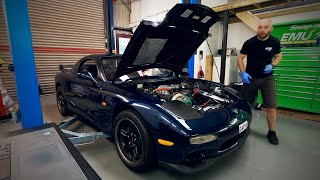 Mana Performance - Mazda RX7 FD Project - ECUMASTER EMU Black ECU Support and Plug and Play adapter.