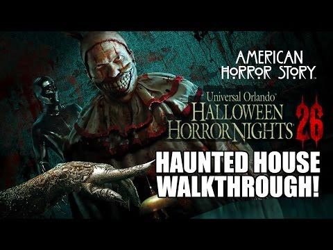 American Horror Story Haunted House Walkthrough Halloween Horror Nights 2016 Universal Orlando HHN26