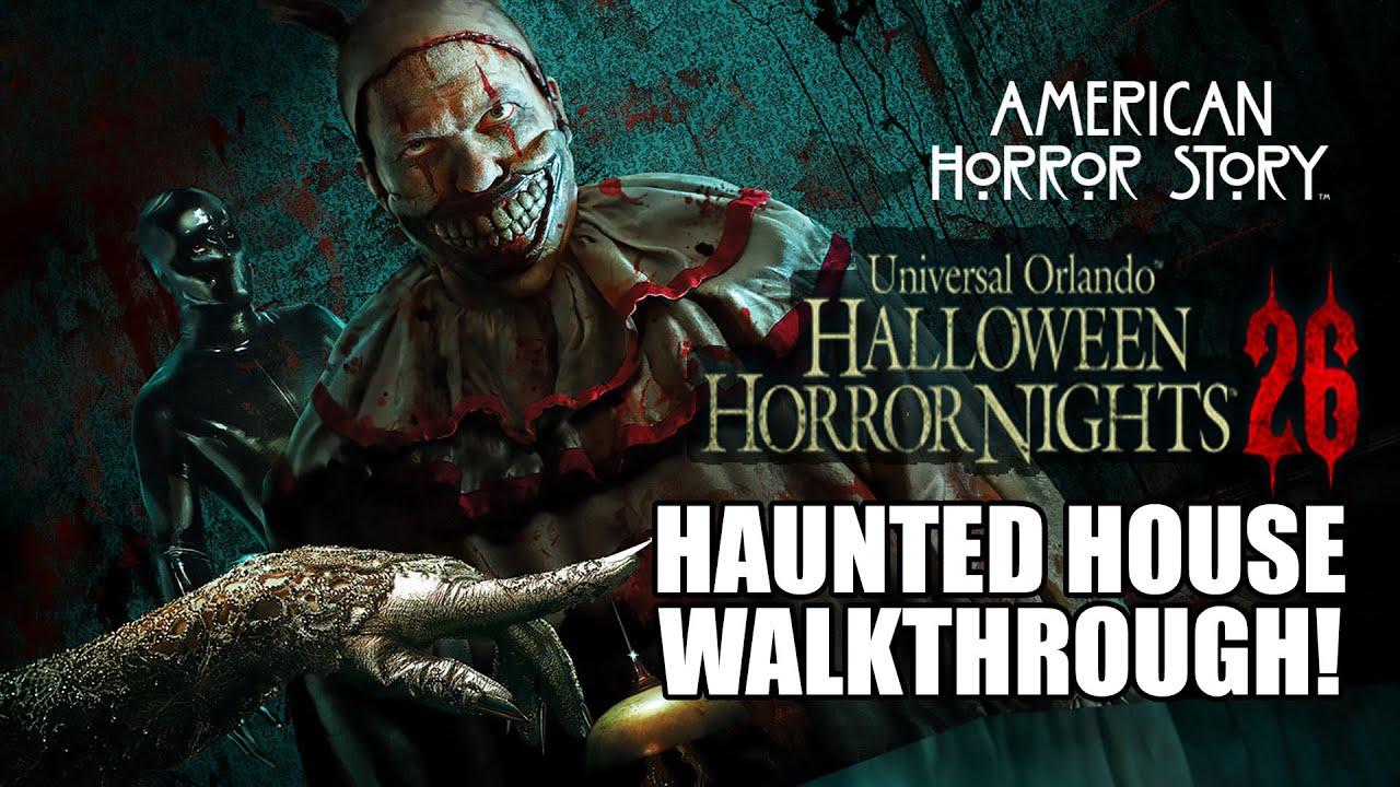 american horror story haunted house walkthrough halloween horror nights 2016 universal orlando hhn26 youtube