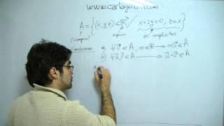 Algebra. Subespacios Vectoriales. Ejercicio, ejemplo: es el conjunto subespacio vectorial