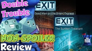Exit: The Sunken Treasure & Dead Man on the Orient Express Review - Double Trouble