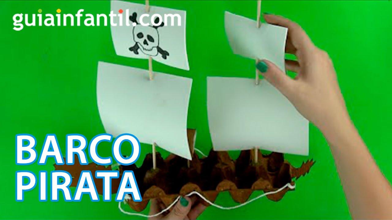 Cómo hacer un barco pirata paso a paso - YouTube