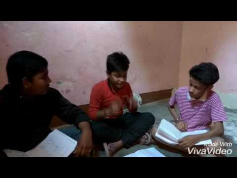 Group study funny children