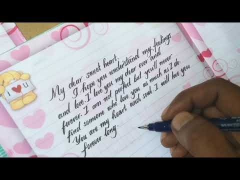 How To Write Love Letter Very Impressive   How To Write Neat And Clean