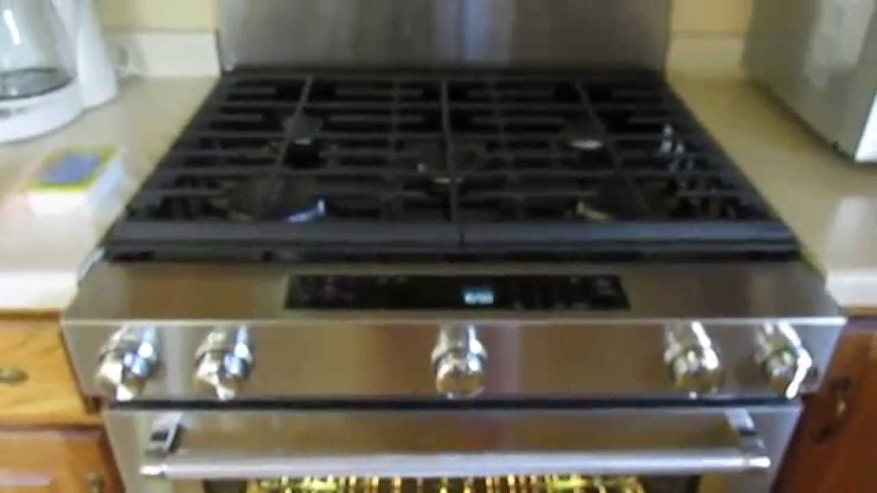KitchenAid 30 In. 5.8 Cu. Ft. Slide In Gas Range With Self Cleaning  Convection Oven KSGG700ESS   YouTube