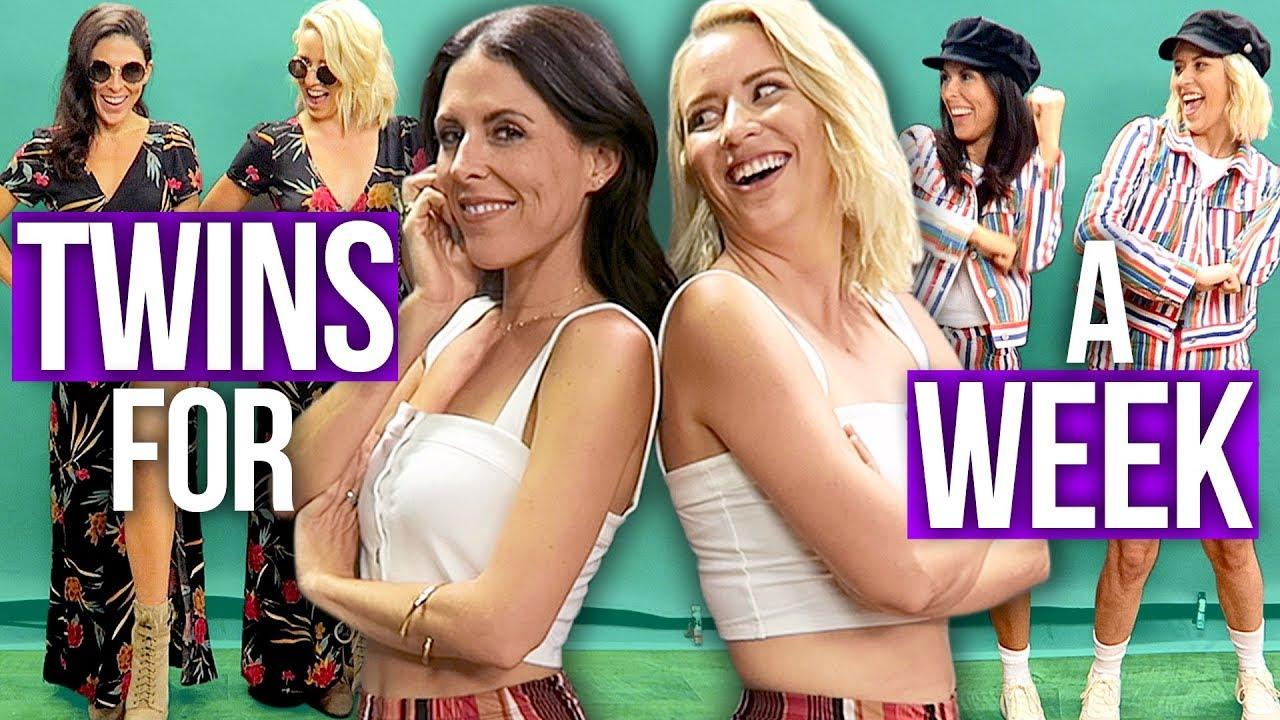 1799a3141d25 Best Friends Dress Like TWINS for a Week! (Beauty Break) - YouTube