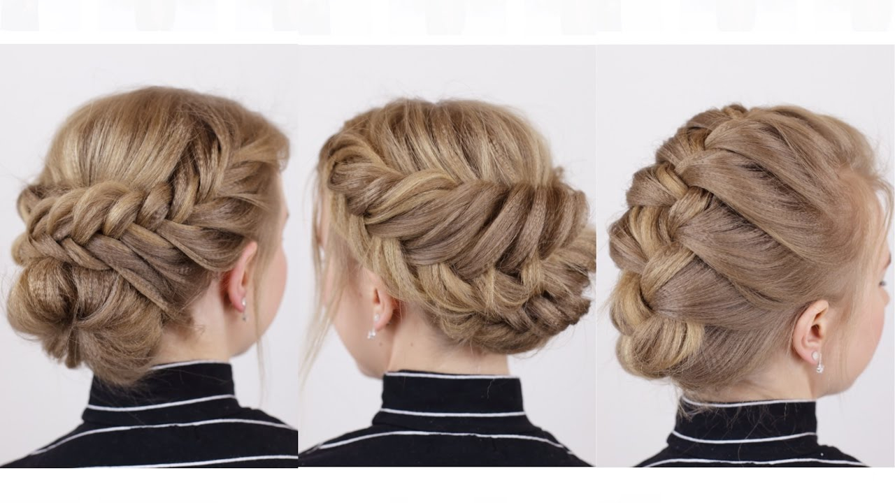 braided updos for short hair