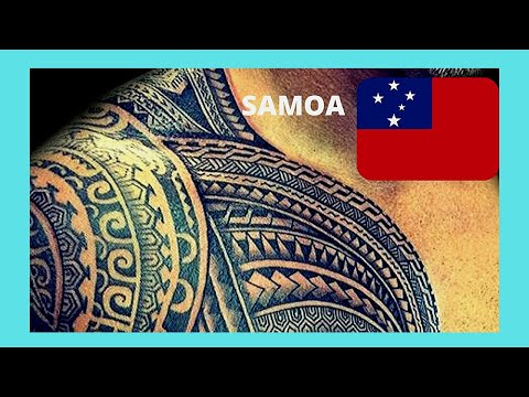 SAMOA, showing off the new tattoos in Apia (Pacific Ocean)