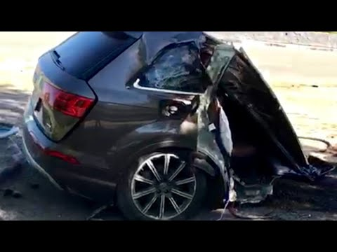 2018 Audi Q7 Split In Half Accident Must SEE !! | Damaged Q7 In Half Cut 05/21/2019 Video
