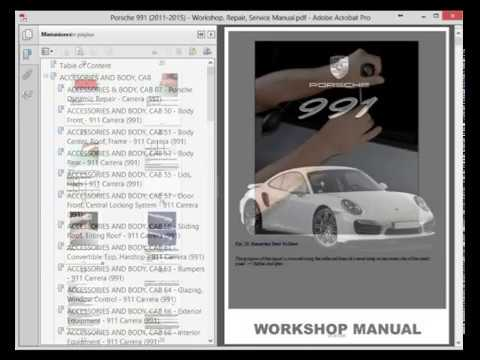 porsche 991 2011 2015 service manual wiring diagram youtube rh youtube com