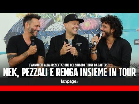 Singolo e tour per Nek, Pezzali e Renga, che scherzano: Siamo un gruppo, come i Backstreet Boys