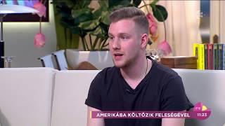Henderson Dávid elárulta, miért költöznek Amerikába feleségével - tv2.hu/fem3cafe