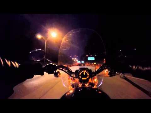 Night Time Commute through Downtown Atlanta - GA 400 and I-85