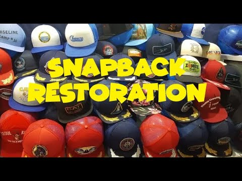 How to restore & reshape vintage snapbacks & hats for resale or collecting.