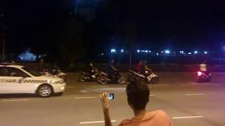 vuclip rempit jatuh langgar road block danga bay johor