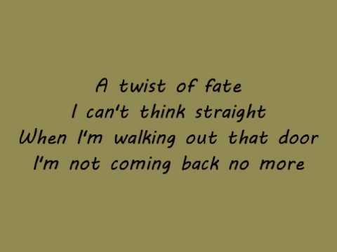 Emilia - twist of fate + lyrics