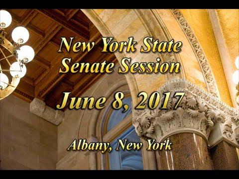 New York State Senate Session - 06/08/17