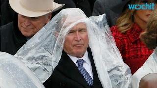 Need A Laugh? Watch George W. Bush Struggles With A Poncho!