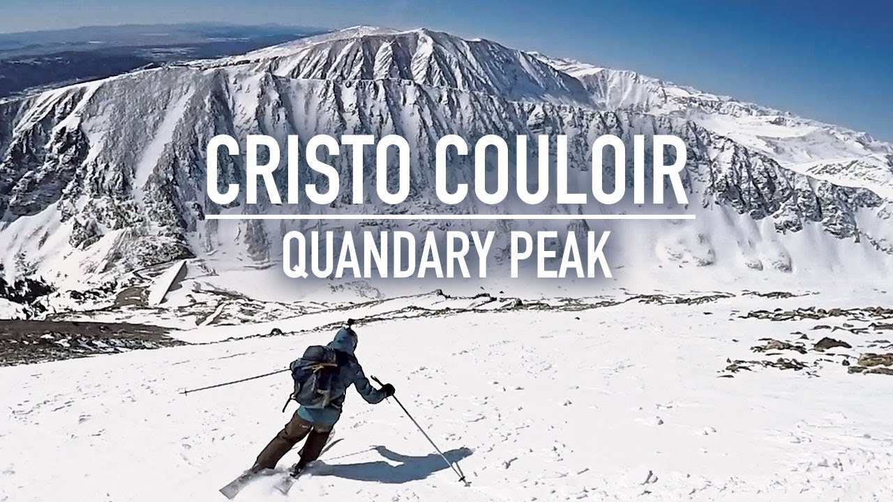 Skiing Quandary Peak and the Cristo Couloir