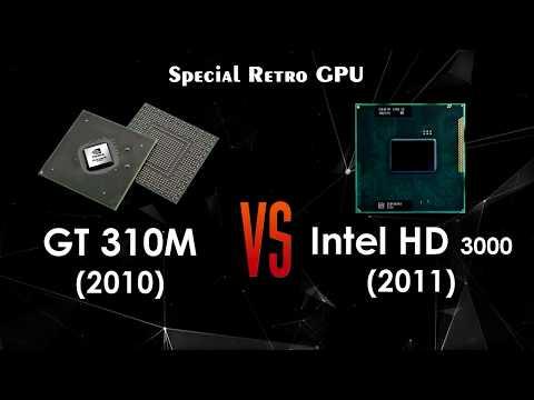GT 310M Vs Intel HD 3000 - Special! Retro GPU