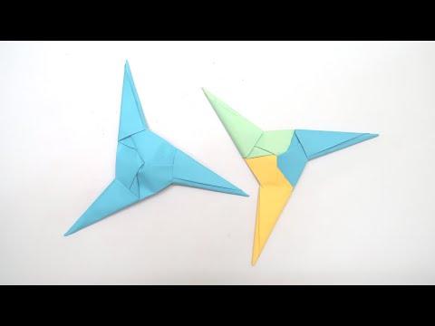 How to make Three Blades Ninja Star (Shuriken) ? | An Easy Tutorial | DIY Paper Craft Videos