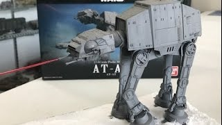 Building the Bandai 1/144 ATAT  from Star Wars with snow diorama