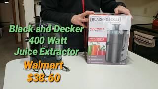 black  Decker Fruit and Vegetable Juice Extractor