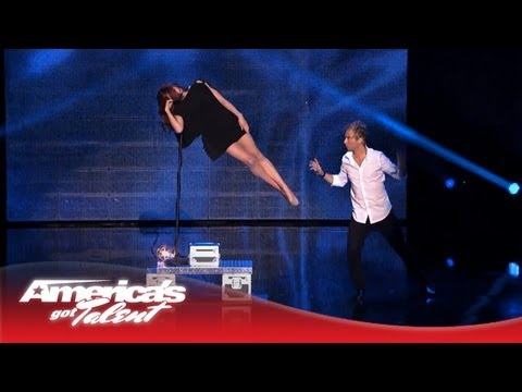 Leon Etienne & Romy Low  Floating Magic Act  America's Got Talent 2013