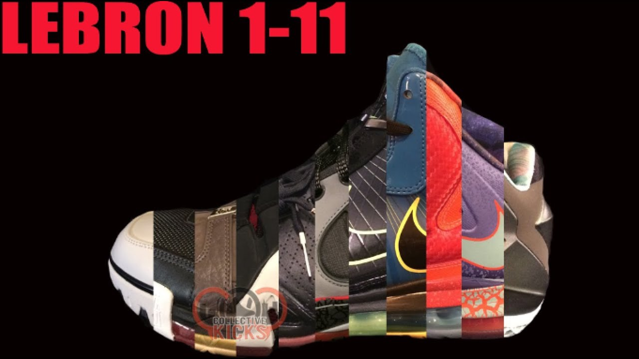Lebron 1-11 Collection Teaser - YouTube 5255b37b71