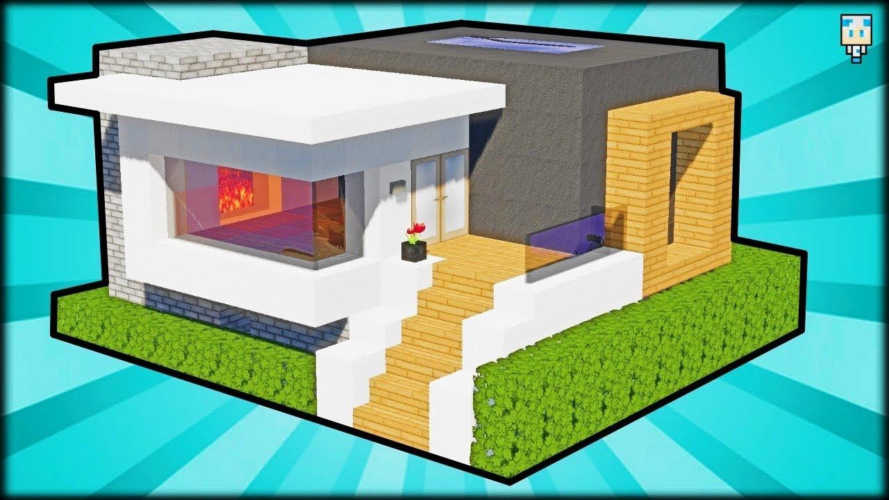 TUTO MAISON MODERNE FACILE À FAIRE | Minecraft - YouTube