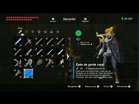 The Legend of Zelda: BotW - Emplacement des armes de Garde
