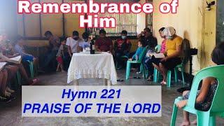 Hymn 221 Remembrance Of Him| Pagdayeg Sa Ginoo- Paghandum Kaniya |English And Cebuano