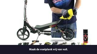 Space Scooter - Gripsticker vervangen X580 X590 (NL)