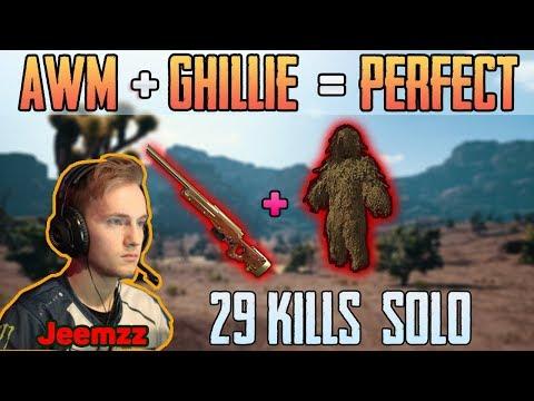 AWM + GHILLIE = PERFECT | Jeemzz 29 Kills Solo FPP MIRAMAR | PUBG HIGHLIGHTS TOP 1 #149