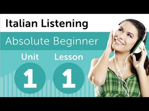 Luyện nghe tiếng Ý A1- Bài 1: Tại nhà sách