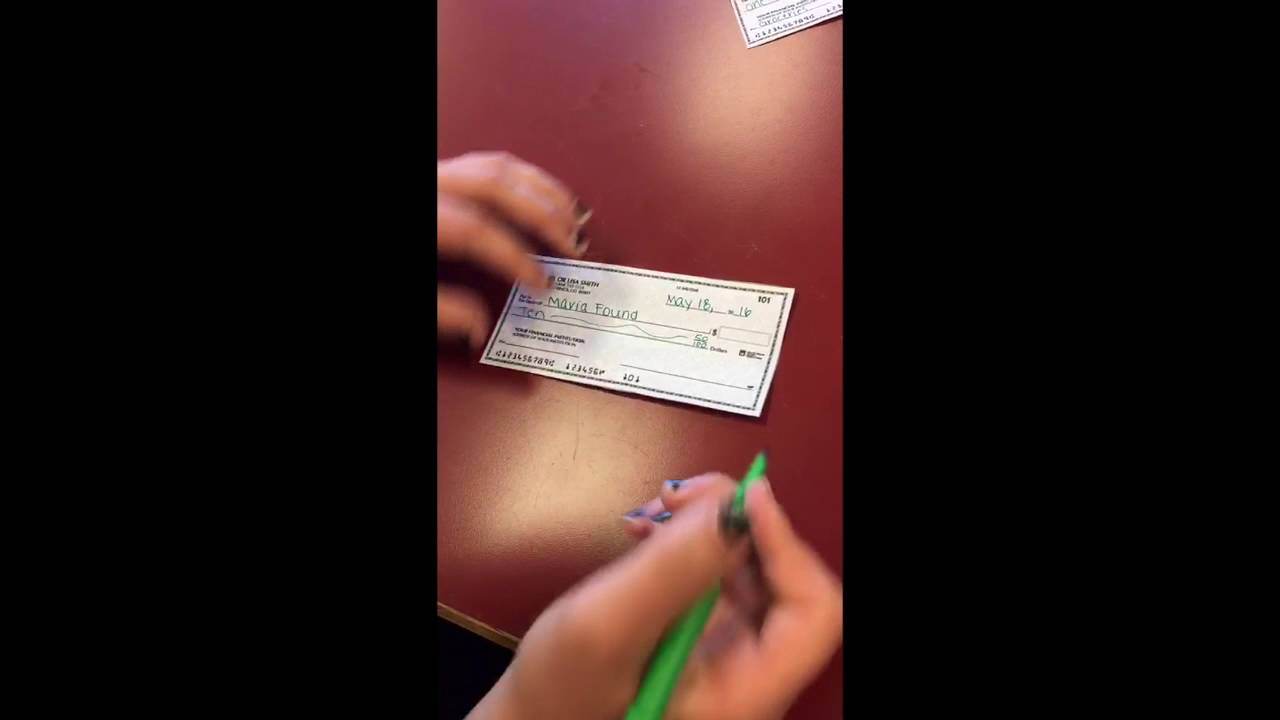How To Write A Check 20160921